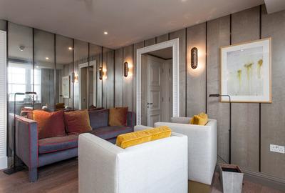 Distressed-Antique-Mirror-Panelled-Livingroom