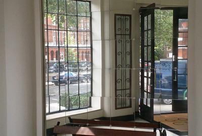 Multi-Panel-Antique-Mirror-Art-Deco-Hall