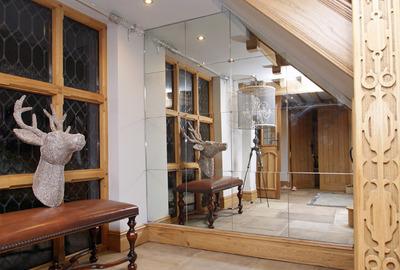 Light-Antique-Mirror-Understairs-Hall-Alcove-Chesire