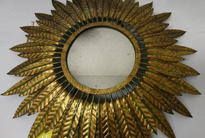 Sunburst-antique-mirror-resoration