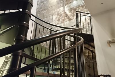 Bronze-antique-mirror-staircase